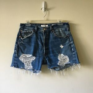 Re/Done distressed shorts size 26